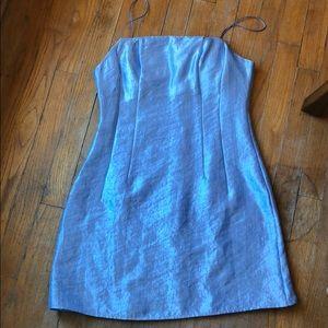 Topshop 90s style blue dress